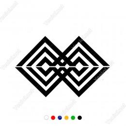 Birbiri İçine Geçmiş Anadolu Motifi Sticker