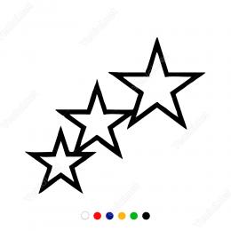 Birbirine Birleşik Üç Yıldız Sticker Yapıştırma