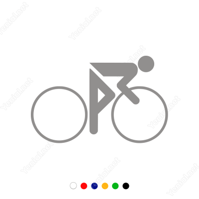Bisiklet Süren Çocuk Sticker Yapıştırma