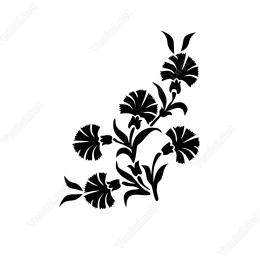 Osmanlı Motifi Alacalı Ve Hoş Kokulu Karanfil Sticker Etiket