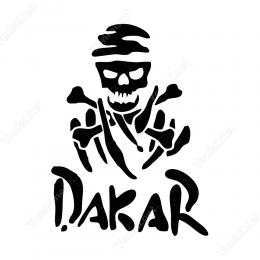 Dakar Logo Araç İçin Stiker Yapıştırma