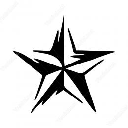 Dalgalı Efektli Yıldız Sticker Yapıştırma