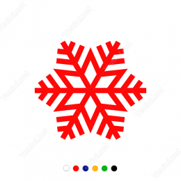 Dalları Çok Görünümlü Kar Tanesi Sticker Çıkartma