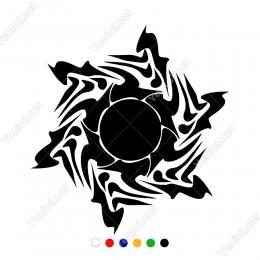 Dönme Efektli Army Asker Yıldız Sticker