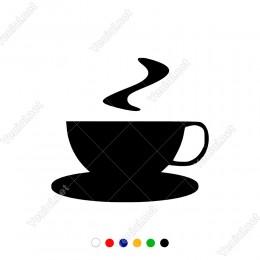 Dumanu Üstende Sıcacık Kahve Sticker