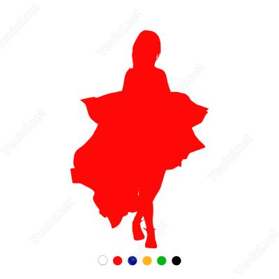 Elbise Sunumu Yapan Manken Sticker Yapıştırma