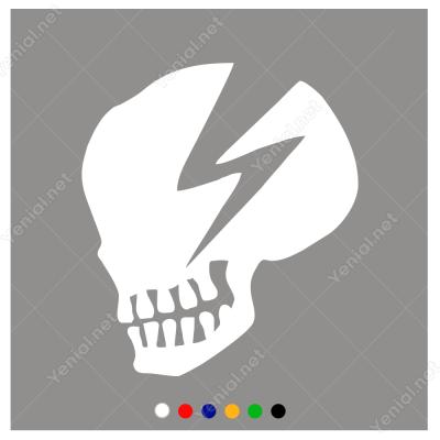 Elektrik Simgesi ve Kurukafa Sticker Yapıştırma