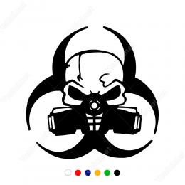 Evrensel Tehlike Gaz Zehirlenmesi Uyarısı Sticker Yapıştırma