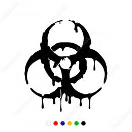 Evrensel Tehlike Tıbbı Zehirlenme  Uyarısı Sticker Yapıştırma