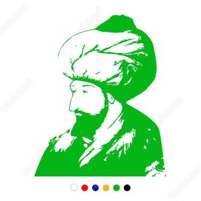 Fatih Sultan Mehmet Sticker Yapıştırma