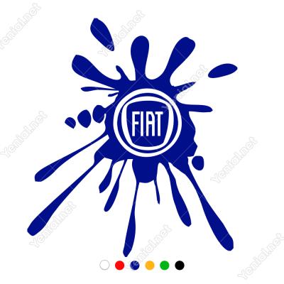 Fiat Logosu Çamur Efekti Sticker Yapıştırma