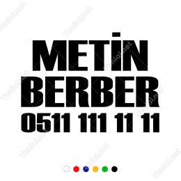 Firmaya Dükkana Özel Berber Stickerı Yapıştırma