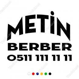 Firmaya Dükkana Özel Oval Berber Yazısı Stickerı Yapıştırma