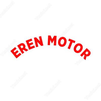 Firmaya Özel Oval Yazı Mondial Motor İçin Sticker Yapıştırma