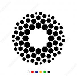 Geometrik Altıgen Spiral Sticker Yapıştırma