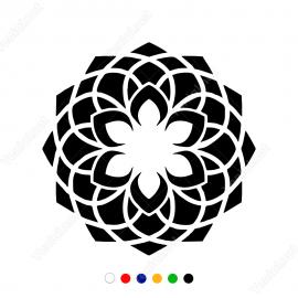 Geometrik Spiral Çiçek Deseni Sticker Yapıştırma