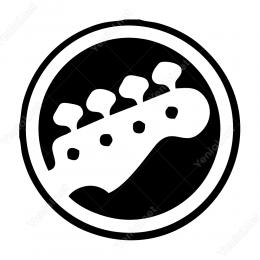 Gitar Kolu Etiket Stiker