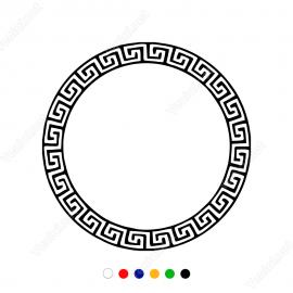 Grek Yunan Antik Su Deseni Sticker Yapıştırma