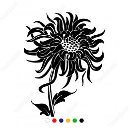 Gün Aşığı Çiçeği Sticker Yapıştırma