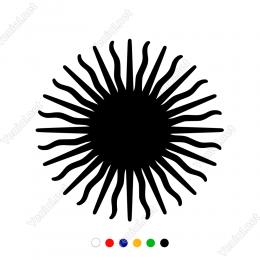 Güneş Sembolü Sticker Yapıştırma