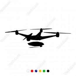 Havada Uçan Gezinen Çekim Yapan Drone Sticker