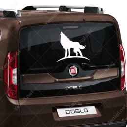 Havlayan Uluyan Efektli Kurt Köpeği Stickerı