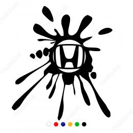 Honda Logosu Çamur Efekti Sticker Yapıştırma