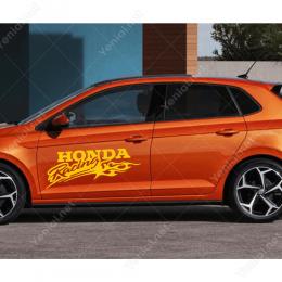 Honda Yarış Arabası İçin Sticker Etiket