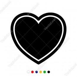 İki Kalp Şeklinde Dış Kontürlü Süsleme Sticker