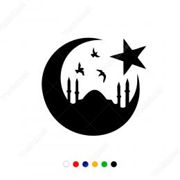 İstanbul Ve Ay Yıldız Sticker Etiket Çıkarma