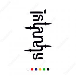 İstanbul Yazısı Çıkartma Sticker Çıkartma