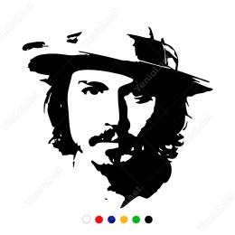 Johnny Deepp Potresi Sticker Yapıştırma