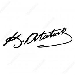 Kemal Atatürk İmzası Sticker Çıkartması