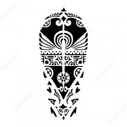 Kabile Motifi Maori Etiket Sticker