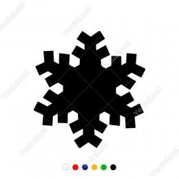 Kalın Çizgi Detaylı Kar Tanesi Motifi Sticker