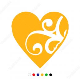 Kalp İçinde Dallar Sticker