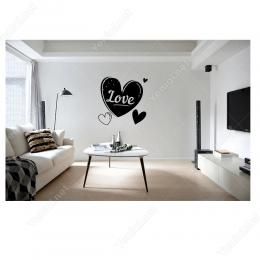 Kalp İçinde Sevgililer Günü Love Sticker Yapıştırma
