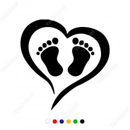 Kalp ve Ayaklar Sticker Yapıştırma