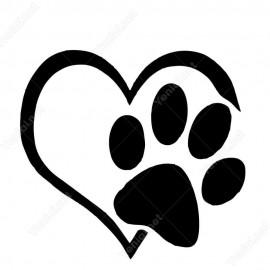 Ayak İzi Ve Kalpli Pati Sticker