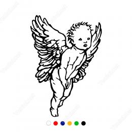 Kanatlı Eros Aşk Tanrısı Sticker Yapıştırma