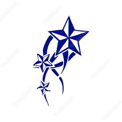 Karışık Şekilde Yıldızlar Sticker Yapıştırma
