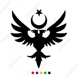 Kartal ve Göktürkçe Türk Araba Sticker Yapıştırma