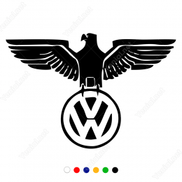 Kartal ve Volkswagen Logosu  Sticker Yapıştırma