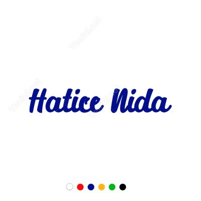 Kişiye Özel İsim Sticker Etiket Çıkartma