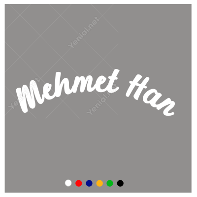 Kişiye Özel Seçenek Oval İsim Sticker Etiket Çıkartma