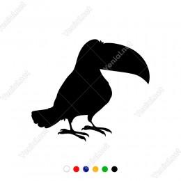 Kocaman Gagası Olan Öne Doğru Dönük Kuş Sticker