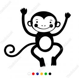 Komik Sevimli Maymun Yavrusu Sticker Yapıştırma