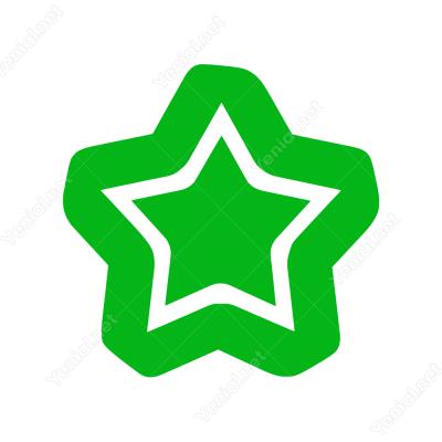 Kontürlü İçi Boş Yıldız Sticker Yapıştırması