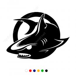 Köpek Balığı Sticker Etiket Çıkartma