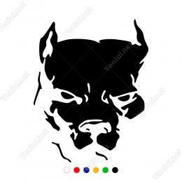 Köpek Dog Pitbull Sticker Yapıştırma